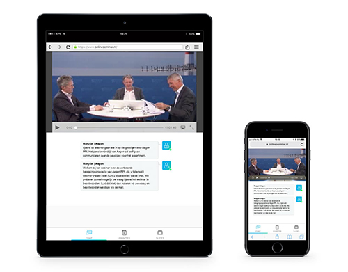 Aegon webinar op iPad en iPhone